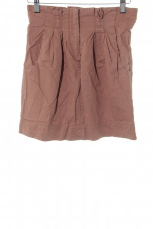 Topshop High Waist Rock hellbraun Casual-Look