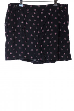 Topshop High-Waist-Shorts schwarz abstraktes Muster Casual-Look