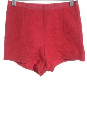 Topshop Short taille haute rouge style minimaliste