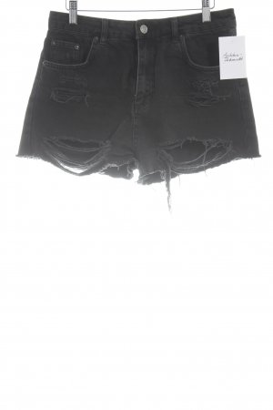 Topshop Short taille haute noir style déchiré