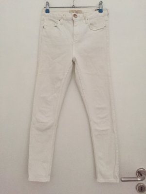 Topshop High Waist Jeans white
