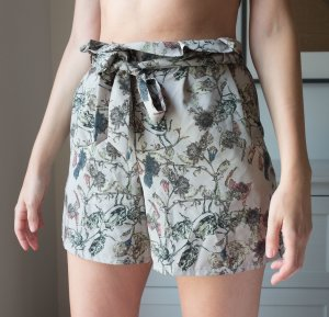 Topshop Highwaisted Paperpag Shorts Hotpants Blumen Gr. 38