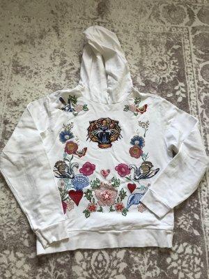 Topshop Sweatshirt met capuchon wit