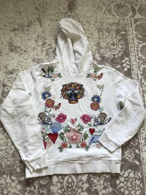 Topshop Hooded Sweatshirt white
