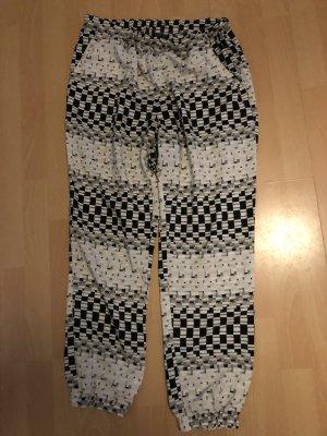 Topshop Pantalón deportivo negro-blanco