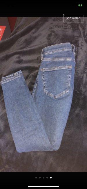 Topshop Low Rise Jeans blue