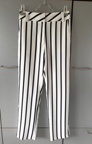 TopShop Hose Stoffhose schwarz-weiß Streifen Muster 38 Neu mit Etikett