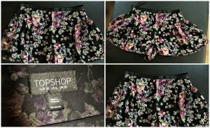 Topshop Culotte Skirt multicolored polyester