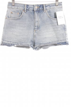 Topshop Hot Pants blau Washed-Optik