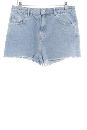 Topshop Hot pants lichtblauw casual uitstraling