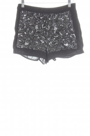 Topshop Hot Pants schwarz-hellgrau Party-Look