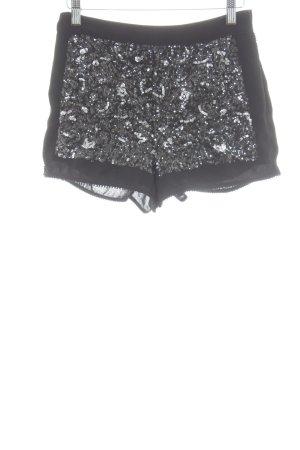 Topshop Short moulant noir-gris clair style festif