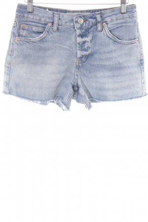 Topshop Hot Pants stahlblau Beach-Look