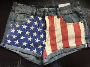 Topshop Hotpants mit Amerikaflagge