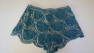 Topshop Hotpants Shorts Charleston Perlen Glitzer S