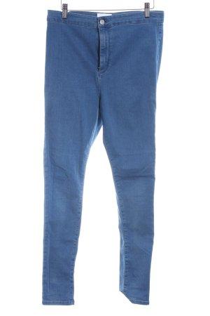Topshop Jeans taille basse bleu azur Aspect de jeans
