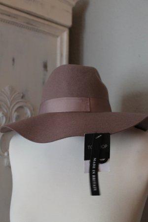 Topshop Chapeau en feutre or rose coton