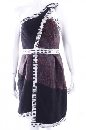 Topshop Jacquardkleid black patterned