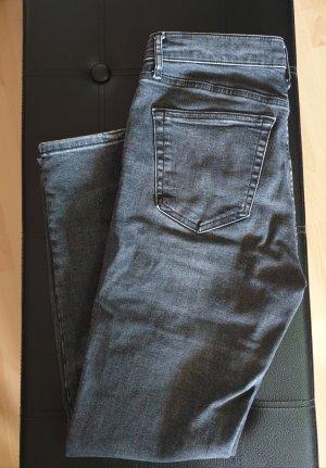 Topshop Jeans taille haute gris
