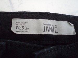 Topshop JAMIE Gr. W26 L30 schwarz Moto high waist
