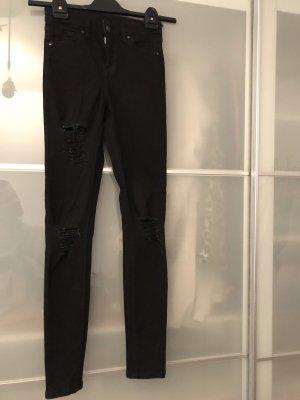 Topshop Jeans a vita alta nero