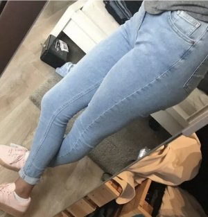 Topshop Jamie Jeans, Light Blue, High Waisted