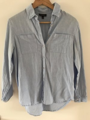 Topshop Blouse en jean gris ardoise-bleu pâle