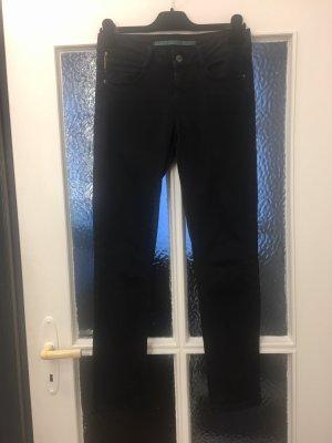 Topshop Jeans taille basse noir