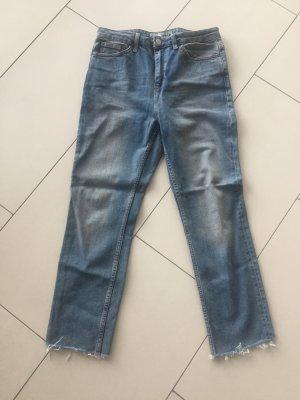 Topshop Jeans 7/8 bleu pâle