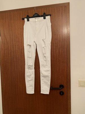 Topshop High Waist Jeans white