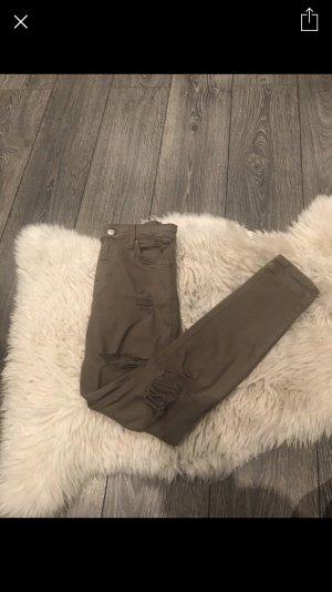 Topshop Jeans destroyed Khaki