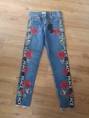Topshop Jeans cigarette bleu