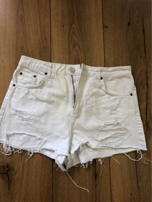 Topshop Jeans-Short used white