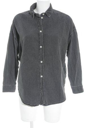 Topshop Chemise en jean gris foncé style décontracté