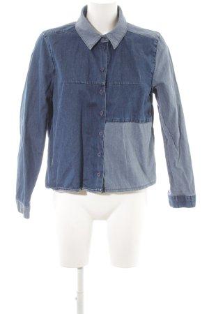 Topshop Chemise en jean bleu acier style décontracté