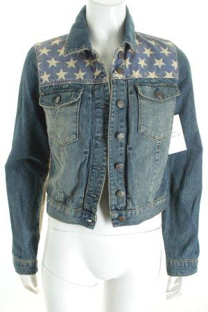 Topshop Jeansjacke blau Street-Fashion-Look
