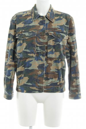Topshop Jeansjacke Camouflagemuster Casual-Look