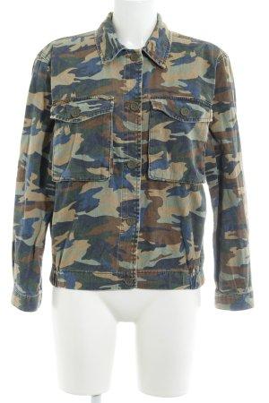 Topshop Veste en jean motif de camouflage style décontracté