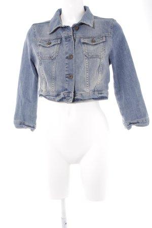 Topshop Veste en jean bleu azur style décontracté