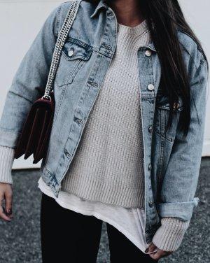 Topshop Jeansjacke himmelblau Jeans-Optik