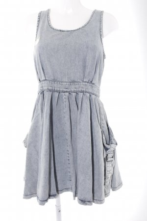 Topshop Jeanskleid graublau-himmelblau Farbverlauf Casual-Look