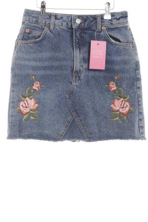 Topshop Jupe en jeans bleu style décontracté