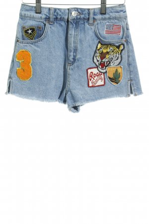 Topshop Jeansshorts abstraktes Muster Casual-Look