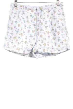Topshop Pantalón corto de tela vaquera estampado floral look Street-Style