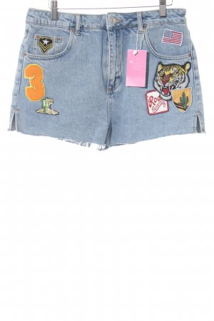 Topshop Jeansshorts himmelblau Washed-Optik