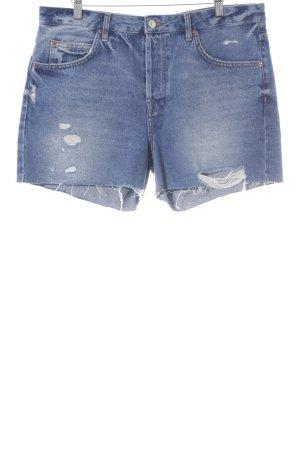 Topshop Short en jean bleu acier style décontracté