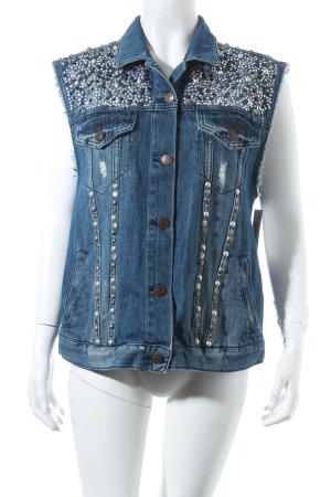 Topshop Jeansweste dunkelblau Street-Fashion-Look
