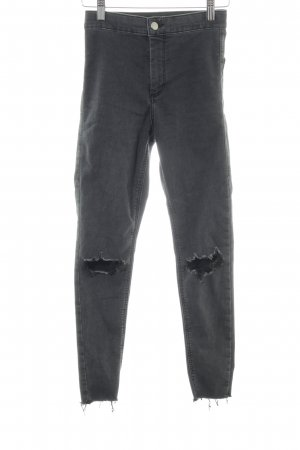 Topshop Jeggings gris oscuro-gris look casual