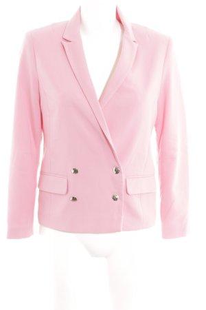 Topshop Blazer in jersey rosa stile professionale