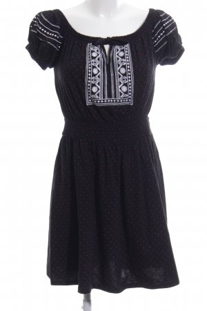 Topshop Jerseykleid schwarz Punktemuster Casual-Look